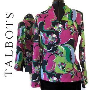 Talbots Tops - Talbots | Blouse: Floral Print, Long Sleeve